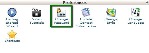 بازنشانی رمز عبور cPanel