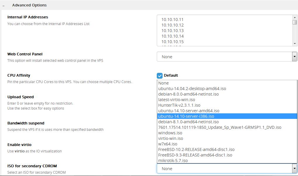 نحوه نصب CD-Rom در virtualizor