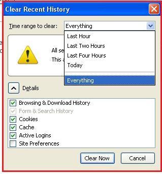 روش حذف کردن حافظه کش در مرورگر