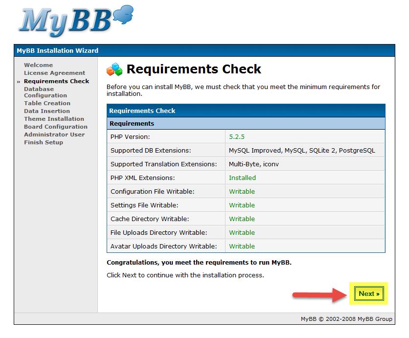 طریقه نصب انجمن ساز MyBB