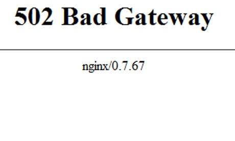 ارور ۵۰۲ bad gateway در nginx