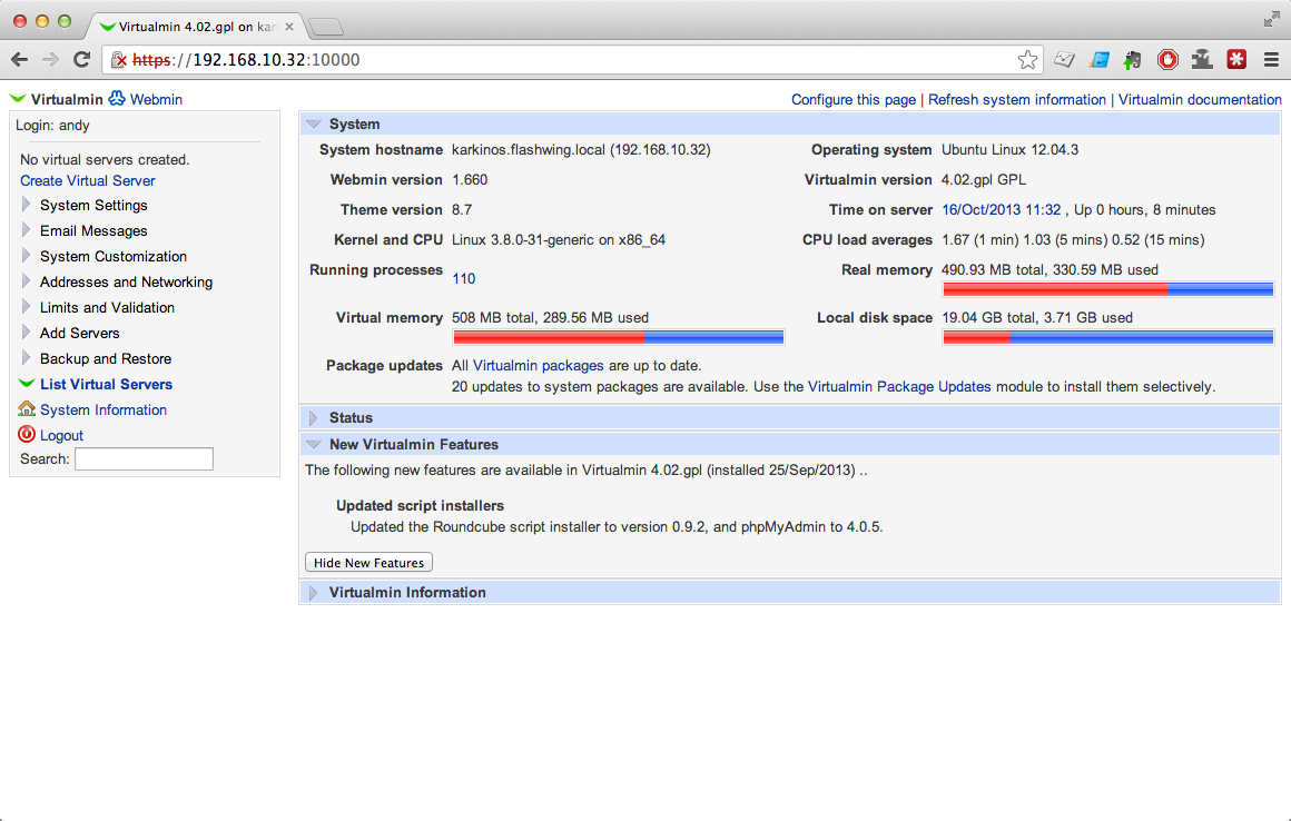 نصب پنل مدیریت لینوکس Virtualmin