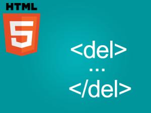 تگ del و کاربرد آن در html
