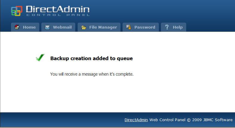 چگونگی بکاپ گیری در Direct Admin