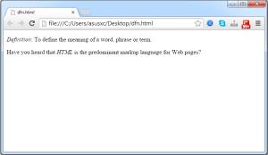 تگ dfn و کاربرد آن در html